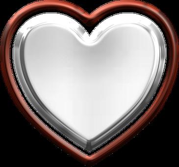Heart, Metallic, Valentine, Love, Metal, Red, Silver