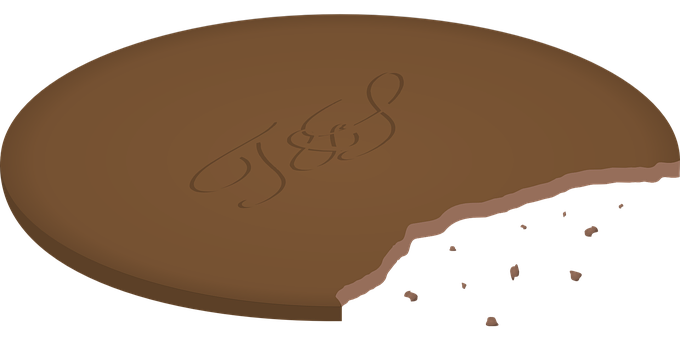 Cookie, Bitten, Brown, Sweet, Sugar, Chocolate, Snack