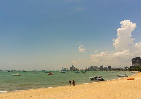 Pattaya, Thailand, Asia, Beach, Sky