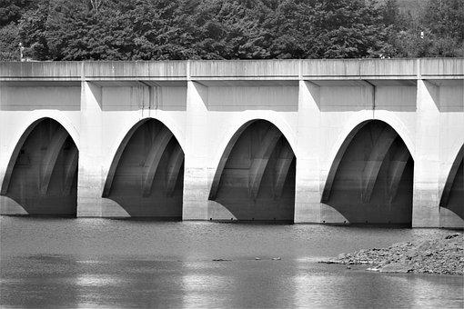 Viaduct, Arches, Bridge, Architecture, Landscape