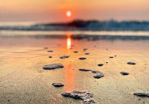 Sunrise, Beach, Ocean, Sea, Sun, Sunset, Clouds, Sky