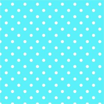 Polka Dots, Aqua, Blue, White