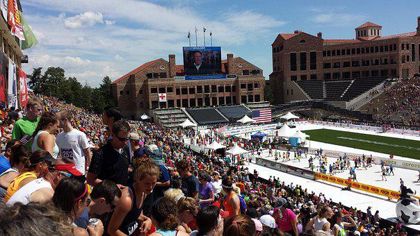 Bolder Boulder, Race, Stadium, Crowd, Sport, Run