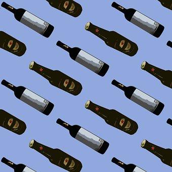 Drink, Pattern, Bottle, Beer, Bottles, Alcohol, Shiny