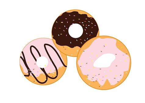 Donuts, Cake, Food, Sweet, Donut