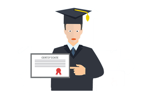 Certificate, Graduation, Diploma, Graduate, Education