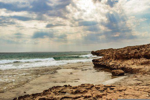 Beach, Rocky Coast, Sea, Sky, Clouds, Nature, Landscape