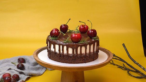 Cake, Decoration, Cherries Cake, Dessert, Food