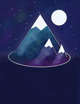 Nature, Mountain, Landscape, Sky, Hiking, Winter, Snow