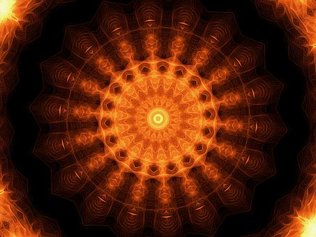 Solar Wheel, Solar, Sun, Mandala, Sun Mandala, Esoteric