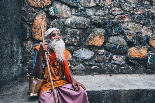 Portrait, Human, Kathmandu, Nepal, Face, Old Man