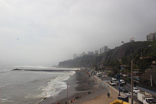 Lima, Peru, Quiet, Ocean, Latin, City, Miraflores