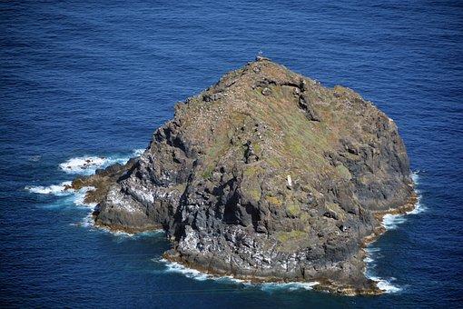 Island, Rocks, Ocean, Rock, Nature, Water, Landscape