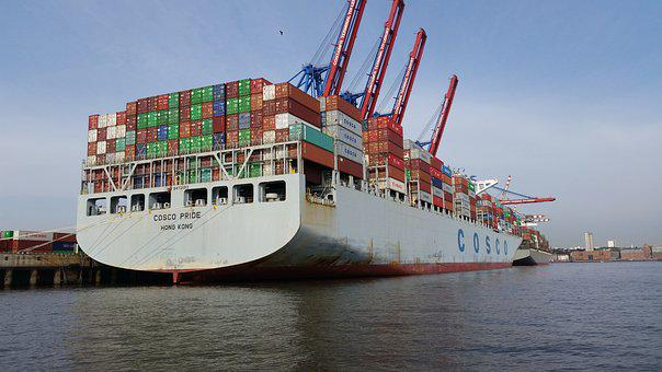 Container Ship, Ship, Export, Hamburg, Port, Container
