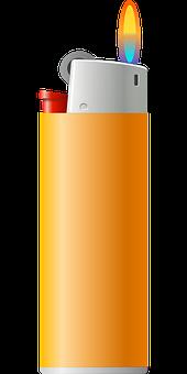 Pocket Lighter, Lighter, Zippo, Flame, Fire, Burn