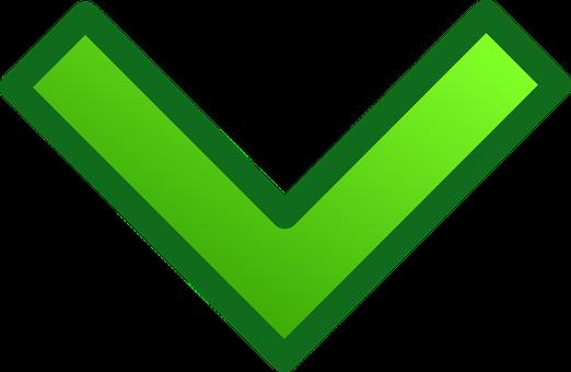 Arrow, Green, Glossy, Down