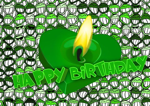 Birthday, Greeting, Laugh, Faces, Grin, Smilie, Smile
