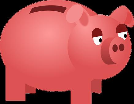 Savings Box, Money, Pig, Pink, Animal, Sparkdose