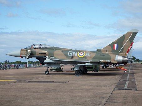 Typhoon, Raf, Airshow, Eurofighter, Jet, Fighter