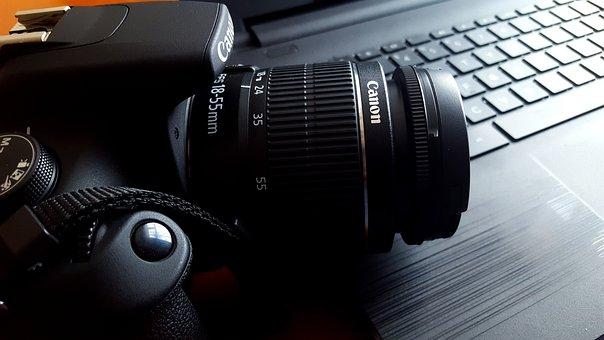 Camera, Canon, Pc, Notebook, Photographer, Photo, 18mm
