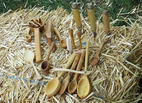 Wood, Wood Tableware, Carving, Hand Labor, Straw, Tool