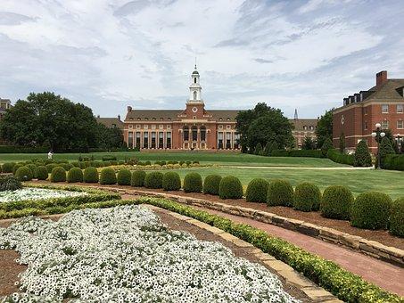 Garden, University, Oklahoma, College, Green, Landmark