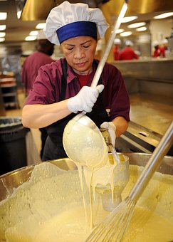 Kitchen, Helper, Woman, Lady, Female, Worker, Food