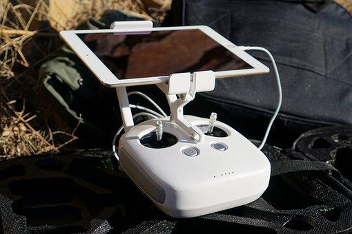Remote Control, Ipad, Signal, Flight, Dji, Drone