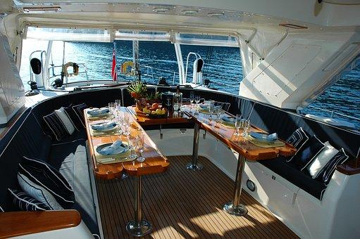 Yacht, Holiday, Gocek, Dining Room, Service, Inner