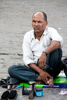 Polish, Man, Shoes, India, Street, Work, Indian, People