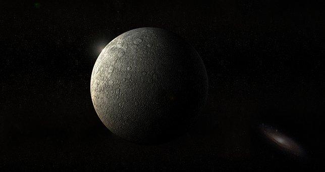 Moon, Planet, Universe, Andromeda, Darkside, Background