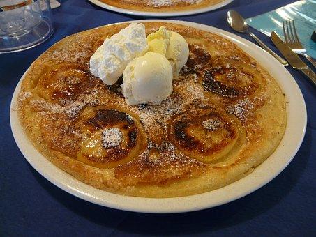 Dessert, Eat, Pancake, Cream, Vanilla Ice Cream, Ice