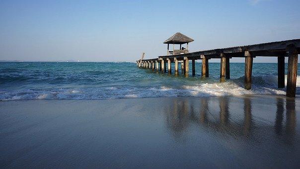 Beach, Pierce, Sea, Vacation, Seascape, Wave, Landscape