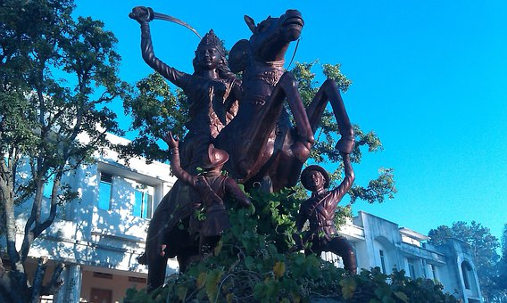 Queen Of Jhansi, Lady, Sword, Horse, Indian History
