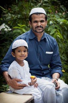 Father, Ramazan, Eid, Ramzan, Son, Islam, Muslim, Child