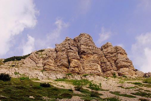 Mountain, Dolomites, Rock, Italy, Small Dolomites, Sky