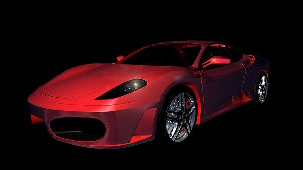 Ferrari, F430, Sports Car, Auto, Automobile, Contour