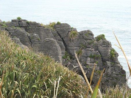 New Zealand, Pancake Rocks, Punakaiki, Stones, Cliff
