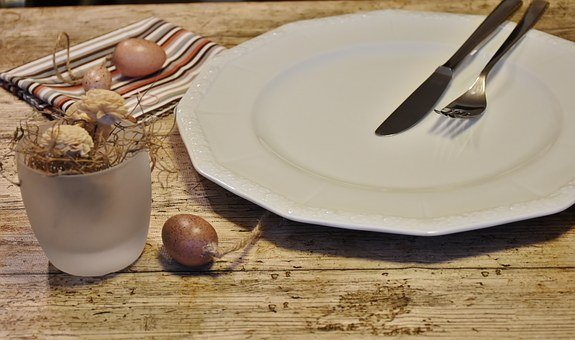 Cover, Plate, Empty, Knife, Fork, Tableware, Cutlery