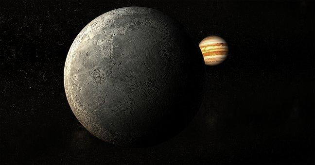 Moon, Planet, Universe, Jupiter, Darkside, Background