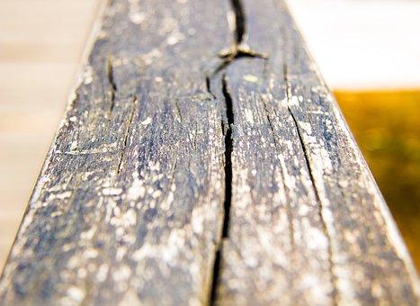Wood, Wood Background, Crack, Wooden Handrail, Handrail