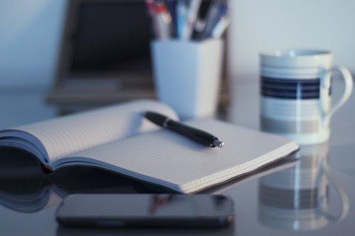 Organization, Office, Work, Home Office, Pen, Notebook