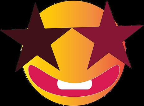 Starry Eyed Emoji, Smiling, Happy, Celebrity