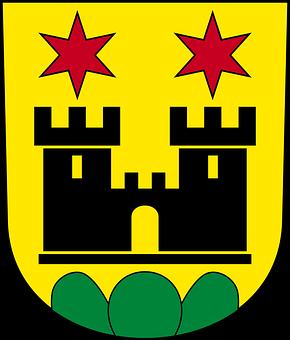 Meilen, Crest, Helmet Plate, Coat Of Arms, Emblem