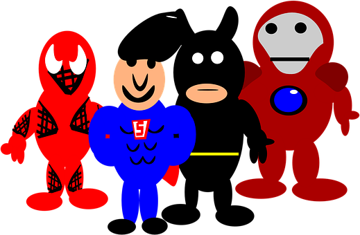 Heroes, Comic, Cartoon, Spider-man, Batman, Superman