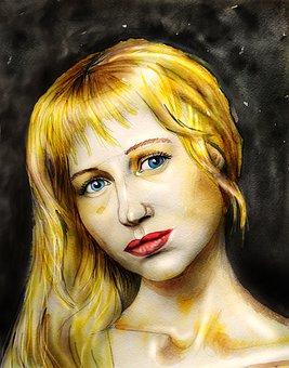 Blonde, Girl, Woman, Portrait