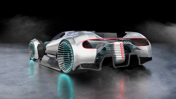 Car, Concept, Vehicle, Speed, 3d, Futuristic, Fast