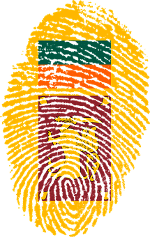 Sri Lanka, Flag, Fingerprint, Country