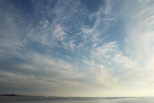 Sky, Clouds, Blue, Sea, Summer, Finnish, Kalajoki