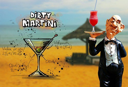 Dirty Martini, Cocktail, Drink, Operation, Upper